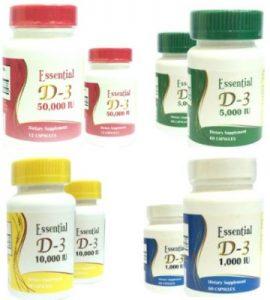 Essential D3 Oral Capsules- Vitamin D3 product