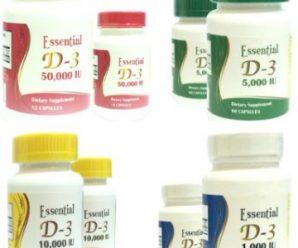 كبسولات إسنشيال د3 الفموية: فيتامين د الصناعى/  كوليكالسيفيرول