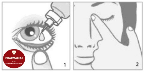 press eye corner to avoid systemic absorption
