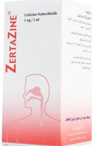 Zertazine 5mg per 5 ml Cetirizine syrup