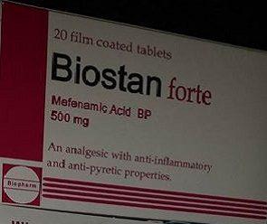 Biostan forte: Mefenamic Acid tablets- Analgesic