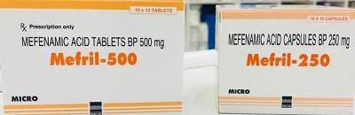 Mefril 500 tablet - 250 capsules