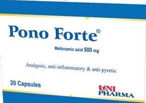 Pono Forte- 500 mg Mefenamic acid Capsules