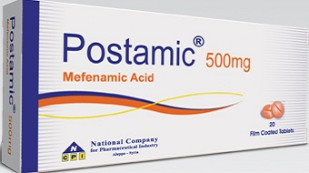 postamic 500 mg Mefenamic acid tablets