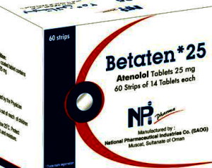 BETATEN TABLET-ATENOLOL BY NATIONAL PHARMACEUTICAL INDUSTRIES CO.(NPI) OMAN