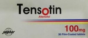 Tensotin tablets - atenolol by Gulf Pharmaceutical Industries (Julphar)