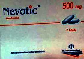 NEVOTIC 500 mg LEVOFLOXACIN tabletS BY Pharma International Co.- JORDAN